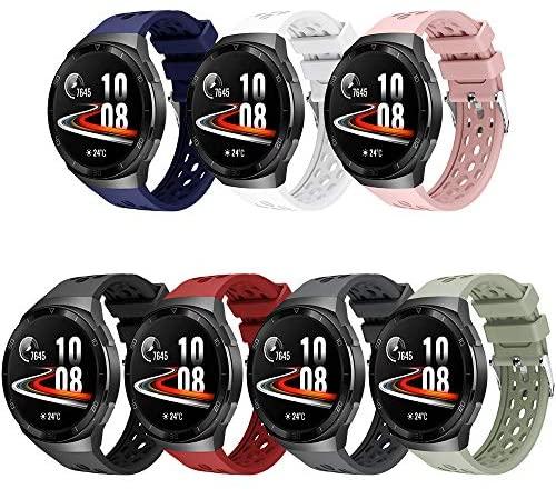 YASPARK Correa Huawei Watch GT2e, Correa de Silicona de diseño poroso de Repuesto de Dos Colores Adecuada para Huawei Watch GT2e…