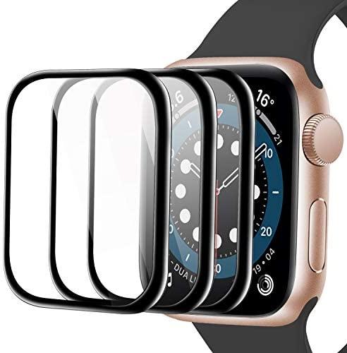 Youmaofa Pantalla Protector Para Apple Watch 38mm Series 3/2/1, (3 Pack)3D Curvo Bordes Completo Cobertura HD Protectora Película para iWatch Series 3/2/1 38mm[Sin Burbujas][Fácil Instalación]