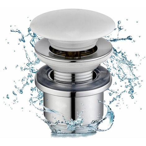 Drenaje Pop-up Drain con rebosadero equipado Cesta de filtro Quick-clac Válvula de drenaje de drenaje de cobre cromado-Homelod