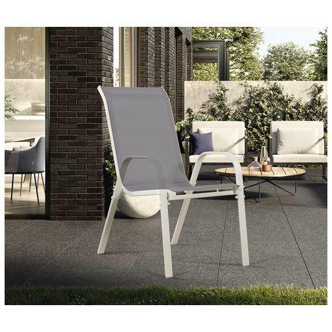 Juego de 4 sillas jardín Textileno Cordoba – Phoenix – Gris claro