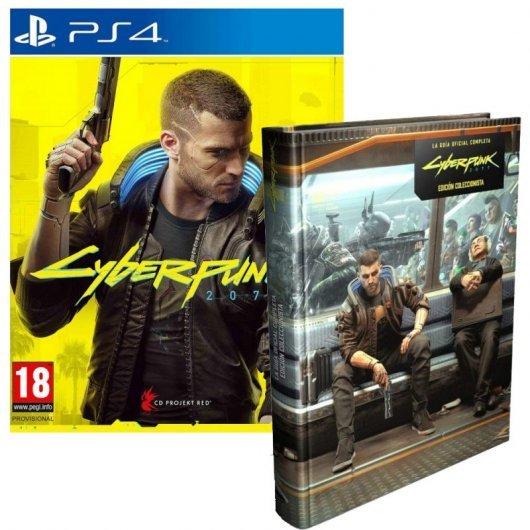 Cyberpunk 2077 Edición Day One PS4 + Piggyback Cyberpunk 2077 La Guía Oficial Completa Edición de Co