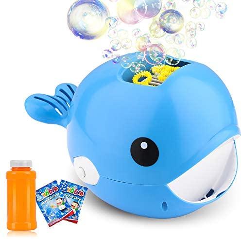 ARANEE Automatic Maquina Burbujas máquina de soplado de Burbujas portátil, soplador de Burbujas Alimentado por batería (batería no incluida) para niños pequeños, Juguetes Ideales para niños