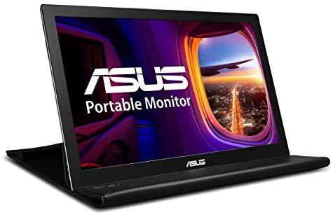 Asus MB168B – Monitor portátil de 15,6´´ HD (1366×768, USB, IPS, ultrafino, giro automático, funda smart plegable, ultrafino) Negro