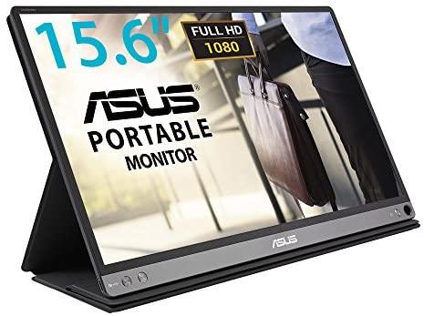 """Asus MB16AC – Monitor portátil de 15.6"""" FullHD (1920×1080, conectividad híbrida, USB-C, Low Blue Light, Antiparpadeo) Negro"""