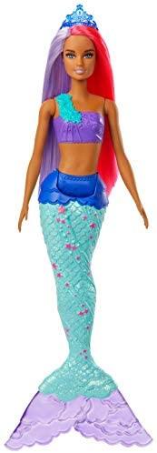 Barbie Dreamtopia Muñeca Sirena, pelo rosa y morado (Mattel GJK09)