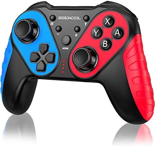BEBONCOOL Switch Controller, Mando Inalámbrico para Nintendo Switch Soporta Movimiento Preciso/Dual Vibración/Turbo, 10 Horas de Juego para Nintendo Switch Mando Compatible con Switch Pro/Lite