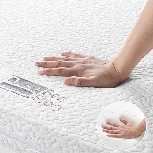BedStory Topper Viscoelastico 135x190x6cm Topper Colchón Antiácaros y Transpirable Sobrecolchón Viscoelastico con Funda Desmontable y Lavable
