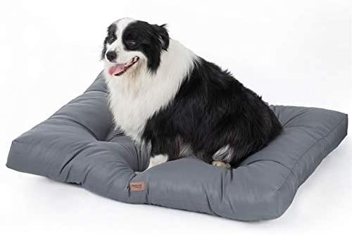 Bedsure Camas para Perros Impermeable XL – Colchón Perro Lavable y Suave, 110x89x10 cm, Gris
