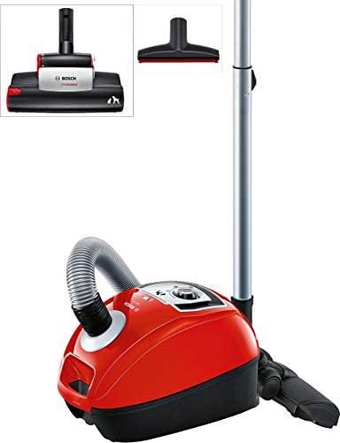 Bosch BGL4ZOOO GL40 Zoo´o Aspirador con bolsa, máxima recogida de pelo de animales, kit de accesorios Animal 360, color rojo