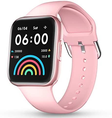 CatShin Relojes Inteligentes Hombre y Mujer,Smartwatch con Pulsómetro,Presión Arterial, Podómetro Pulsera Actividad Impermeable IP67 Relojs Inteligentes para Android iOS y Huawei iPhone Smartphone