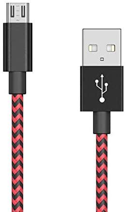 CiSiRUN Cable de Carga para PS4 y Xbox One Cable de Carga para Mando,3m(Rojo)