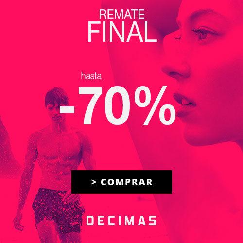 ¡Remate Final! Hasta 70%