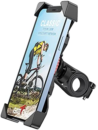 """Grefay Soporte Movil Bicicleta Soporte Eléctrico Scooter Universal Manillar Motocicleta para 3.5""""-6.5"""" Smartphones con Rotación 360°"""