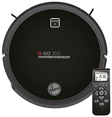 Hoover H-GO 300 HGO310 Robot Aspirador, Bateria Litio de 120 mins, Motor Inverter, Filtros Epa, Mando a Distancia y Base de Carga, Sensores anticaída y Antichoque