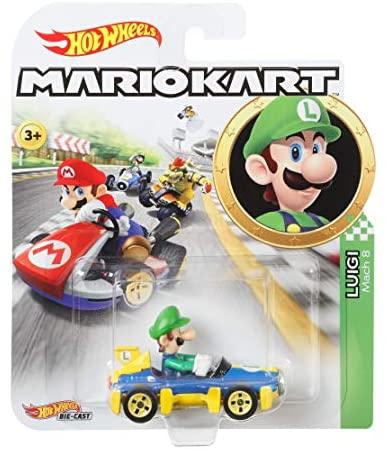 Hot Wheels – Mario Kart, Luigi, Vehiculos, Coche de juguete (Mattel GBG27) , color/modelo surtido