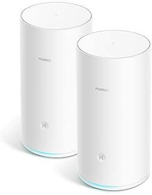 HUAWEI WiFi Mesh (2 Pack) – Router Mesh, Repetidor de wifi, Triple banda AC2200, CPU de cuatro núcleos 1.4GHz, Cobertura sólida y fiable en todo tu hogar (hasta 400 m²), Color Blanco