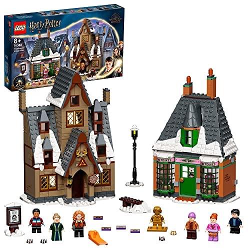 LEGO 76388 Harry Potter Visita a La Aldea de Hogsmeade, Set para el 20 Aniversario con Mini Figura Dorada, Juguete para Niños