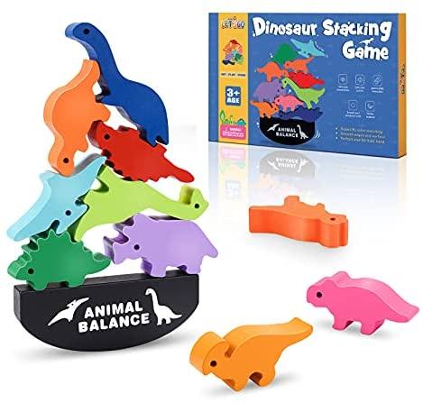 LET´SGo Dinosaurios Juguetes de Madera, Juguetes Montessori & Regalos Cumpleaños