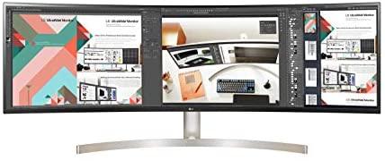 "LG – Monitor 49WL95C-WE UltraPanoramico multimedia (Panel IPS: 5120×1440, 32:9, 350nit, 1000:1, sRGB >99%, 60Hz); diag. 124.5 cm (49""); entr.: HDMIx2, DPx1, USB-Cx1, USB-Ax4, Plata"