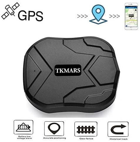 Localizador GPS para Coche, Localizador GPS en Tiempo Real Impermeable Rastreador GPS,Fuerte Imán GPS Tracker para Vehículos con Gratis App TK905