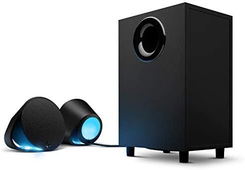 Logitech G560 Altavoces Gamer para PC, Sonido envolvente DTS:X, Iluminación LIGHTSYNC RGB integrada, 2 altavoces satélite y un subwoofer, Experiencia de juego inmersiva – Negro