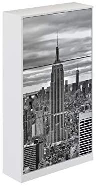 Movian Constance Modern – Armario zapatero de 3 puertas París, 25 x 75 x 128 cm (Impresión de París)