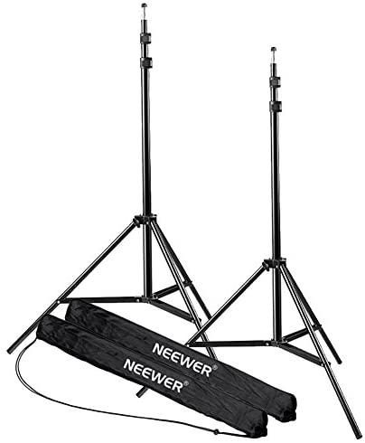 Neewer Soporte Tripode de Luz para Fotografía en Estudio, Vídeo, Retrato y Fotografía de Iluminación, Reflectores, Softboxes, Parasoles y Fondos, 210 cm, 2 Piezas
