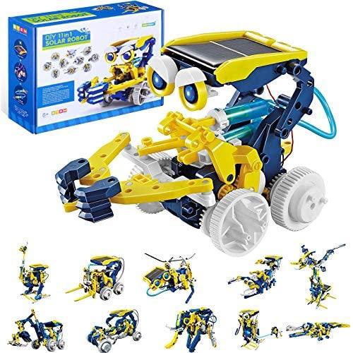 OFUN 11 en 1 Juguete Robot Solar, Robots Kit de Ciencia Divertido Juego Creativo y DIY Juguetes, Manualidades Regalos para niños de 8 a 12 años