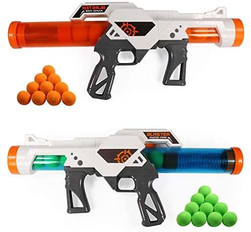 RuiDaXiang Pistolas de Juguete ,Paquete de Batalla Dual de 2pcs, Pistolas de Juguete con Disparador de Bola de Espuma para niños de más de 6 años Que juegan con su Familia