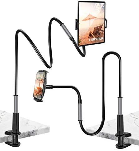 Tsryrlr Soporte Tablet, Soporte con Brazo de Cuello de Cisne para Serie ajustable,Soporte Movil Cama, para ipad iphone ,Samsung,kindle,todos los dispositivos de 4.7-10.5 pulgadas