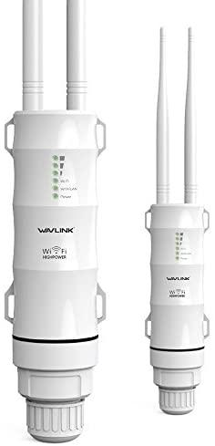 WAVLINK AC600 Dual Band Repetidor Exterior de WiFi, Punto de Acceso de Wireless,Repetidor/Ap Mode/Router/WISP, 2.4GHz 150Mbps + 5GHz 433Mbps, Modelo de PoE pasivo, 100m+,Blanco