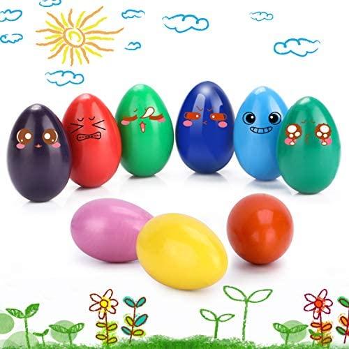 WOSTOO Crayones para Niños Pequeños, 9 Colores Surtidos Pintura Crayones de Huevo para Niños, Seguro Crayones de Pintura Coloridos Juguetes, Lavables Lápices de Pintura Regalo para Niños y Niñas
