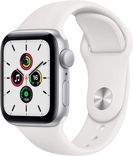 Apple Watch SE (GPS, 40 mm) Caja de Aluminio en Plata – Correa Deportiva Blanca