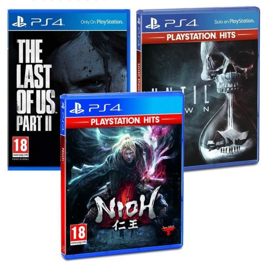 Pack PS4 The Last of Us Parte II + Nioh Playstation Hits + Until Dawn Playstation Hits