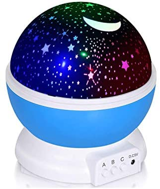 Adoric Proyector Lámpara De Dormir Lámpara Infantil Lámpara Proyector Infantil 360 Grados De Rotación 3 Modo de Luz De Proyector De Estrella Regalo Navidad