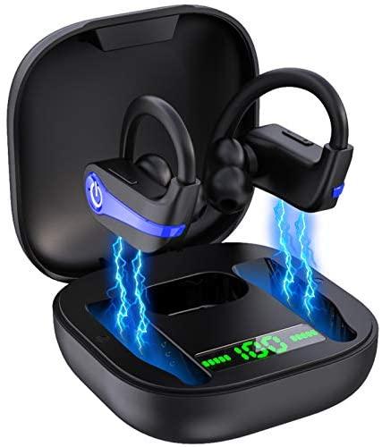 Auriculares Inalámbricos Deportivos, lecover Auriculares Bluetooth 5.1 Deporte IP7 Impermeable Running Cascos Inalambricos In Ear Auriculares Cancelación de Ruido con Mic, 40H Playtime para Sport