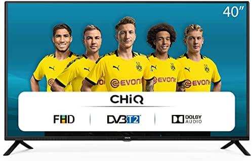CHiQ Televisor 40 Pulgadas Full HD (NO Smart TV), 3 x HDMI, 2 x USB, Sintonizador Triple (DVBT / T2 / C / S2), Reproductor Multimedia a través del Puerto USB – L40G4500