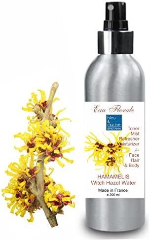 Hidrolato de Hamamelis – Olmo Escocés 200 ml Agua Floral – Tónico witch hazel para Piel Grasa Piel con Imperfecciones Piel Normal Piel con Acné