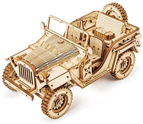 ROKR Car Madera Maquetas para Construir – Maquetas para Montar – Set de Construcción Puzzle 3D para niños y Adultos (Heavy Truck)