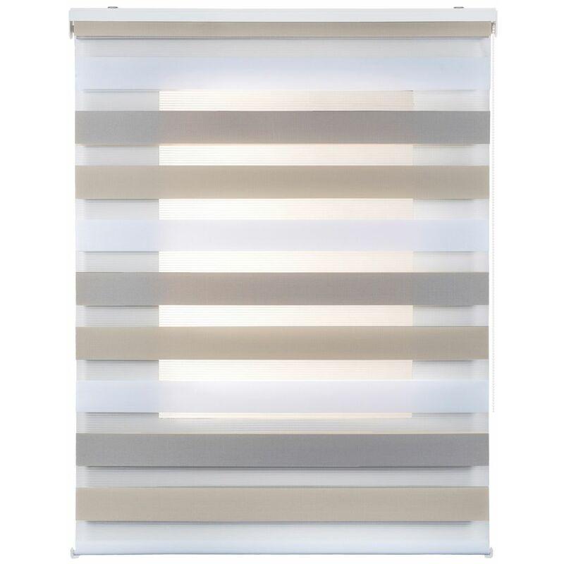 Estor Noche y Día, estor enrollable con doble tejido, Tricolor  140 x 250cm
