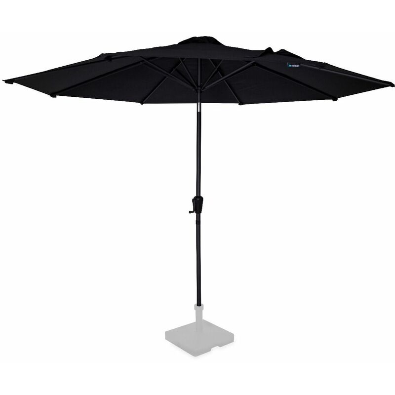 Sombrilla Recanati Ø300cm – Parasol basculante – Lona UPF 50+ – Antracita/Negro – Excl. base