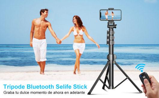 Cocoda Tripode para Movil, 142cm Tripode Palo Selfie Bluetooth