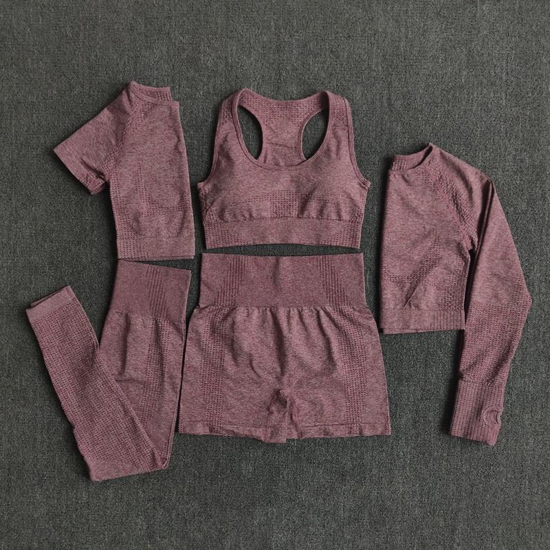 2/3/5PCS Seamless Women Yoga Set Workout