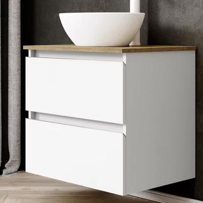 Mueble de baño con lavabo y espejo Dueto blanco 60×46 cm