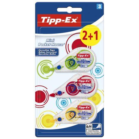 Pack de 2+1 Cintas Correctoras Tipp-Ex Mini Pocket Mouse