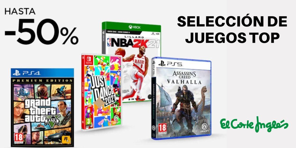 Selección videojuegos hasta el 50%