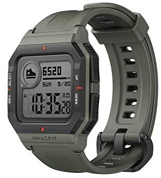 Amazfit Neo Smart Watch Reloj Inteligente 28 Días Batería 5 ATM Sensor Seguimiento Biológico Frecuencia Cardíaca iOS & Android Verde