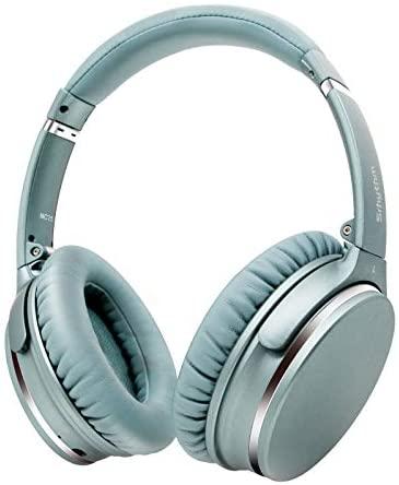 Auriculares de Diadema Inalámbricos con Cancelación de Ruido Bluetooth 5.0.Srhythm NC25 (2020) ANC Headhpones con 50H Batería,Mic,Asistente de Voz,Modo de Juego de Baja Latencia (Menta-Verde)