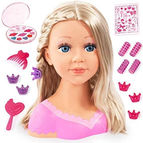 Bayer Design – Charlene Super Model, Busto muñeca para peinar y maquillar con accesorios, color/modelo surtido (B2890088)