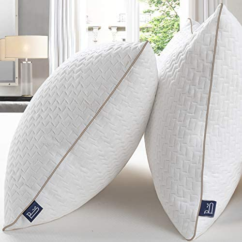 BedStory Almohada 50×75 Almohada Pack 2 con Funda de Lavable Almohada Antiácaros con 80% de 3D Fibra + 20% de 7D Fibra de poliéster Relleno de Almohadas de Calidad Hotelera